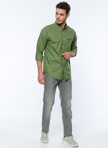 Oxford Yaka Uzun Kollu Slim Fit Gömlek-Lee